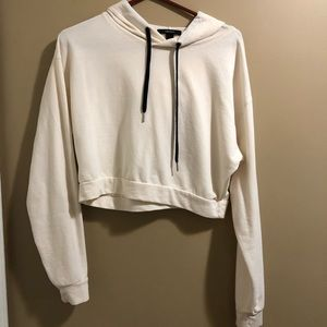 Cream cropped sweatshirt size S